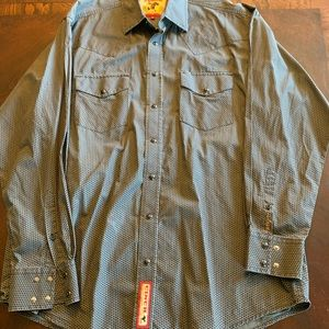Pearl snap men's cinch button down NWOT